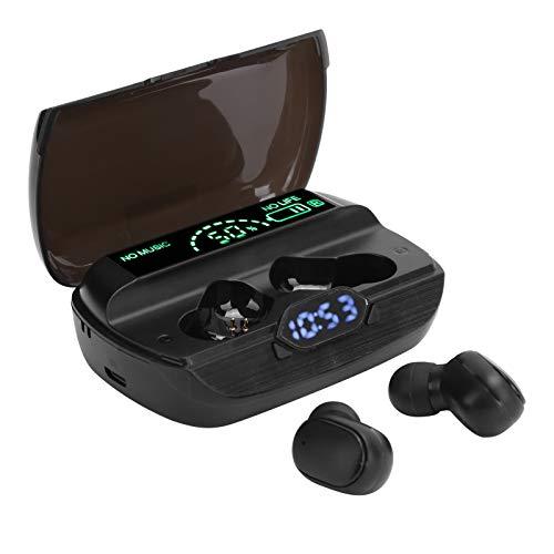Meiyya Auriculares Pantalla LED Auriculares Más Estable Tecnología Inteligente de reducción de Ruido Caja de Carga de Gran Capacidad Cargador portátil Llamada para Escuchar música
