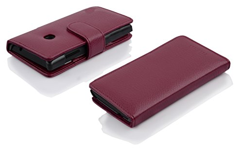 Cadorabo Hülle für Huawei Ascend Y330 - Hülle in Bordeaux LILA – Handyhülle mit Kartenfach aus struktriertem Kunstleder - Case Cover Schutzhülle Etui Tasche Book Klapp Style - 6