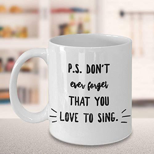 N\A Liebe es, Geschenke zu singen Becher | Musikgeschenk | für Sänger | für Musikliebhaber | Singende Tassen | Inspirierende Tassen | Vergiss Nicht zu singen
