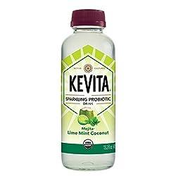 KeVita Sparkling Probiotic Drink, Mojita Lime Mint Coconut, 15.2 oz.