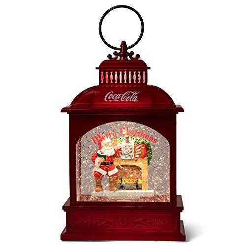 Coca-Cola Kurt S. Adler - Lanterna a LED a forma di coca a forma di Babbo Natale, a forma di lobo, 20 cm, multicolore