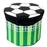 TE-Trend Textil Aufbewahrungsbox Spieltruhe Spielbox faltbar Motiv Fussball mit Deckel