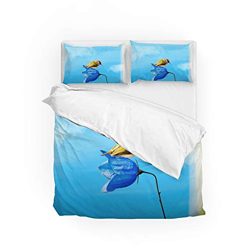 Ruchen Duvet Cover Set Bedding Set Lovely Scene Of Birds On Water Soft King