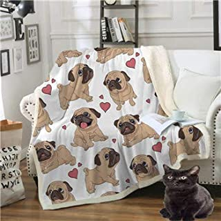 EOFK Dachshund Flannel Blanket Cartoon Colorful Coral Fleece Blanket for Child Bed Throws Dog Puppy M Soft Bedspreads Teen Must Haves Gift Ideas Boys Favourite Characters