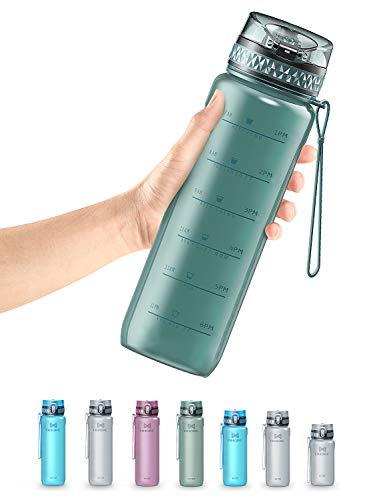 OMORC Gourde Sport,Bouteille d'eau Plastique Reutilisable Tritan sans BPA avec Filtre,Marqueur de Temps,Bouteille d'eau Sport Anti-Fuite,17oz/ 32oz(500/900 ML) pour Enfant & Adulte