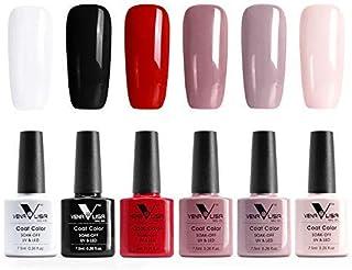 Venalisa 6 piezas lote profesional UV gel esmalte conjunto UV LED remojo capa color esmalte de uñas capa superior gel de m...
