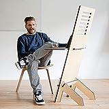 Standsome Free Crafted – Stehpult höhenverstellbar, Stehschreibtisch und Rednerpult, mobiler Schreibtisch, Stehtisch Laptop und Pult aus Holz - 3