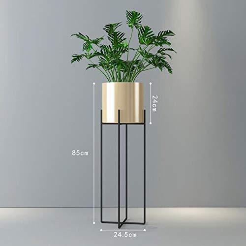 LYQZ Support pour Fleurs Balcon Salon-à-Plancher Nordic Iron Cross Moderne Minimaliste Flowerpot Green Flower Rack (Couleur : Or, Taille : L)