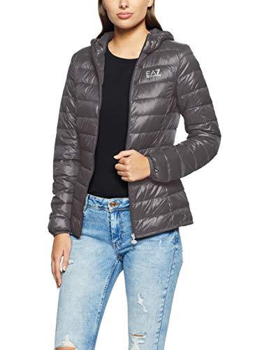 Emporio Armani Damen Train Core Hoodie Jacket Gesteppte Jacke, Magnet, Small