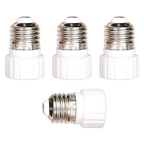 OeyeO Conversión portalámparas E27 a GU10, adaptador de bombilla E27 a GU10, color blanco, convertidor para bombillas LED energéticas