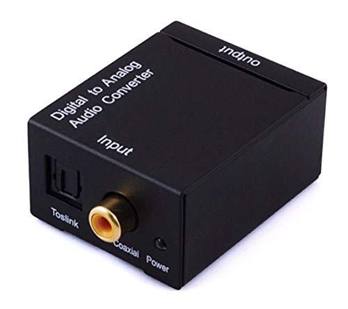 Adaptador Conversor De Áudio Óptico Para Analógico Rca