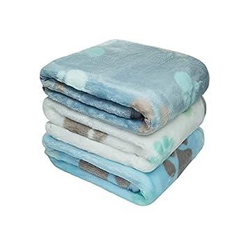 Yizhi Miaow 1 lot de 3 petites couvertures en polaire douce et chaude de 58,4 x 39,4 cm pour animal de compagnie, chaton, couverture en polaire, coussin ultra léger, confortable, doux et chaud.