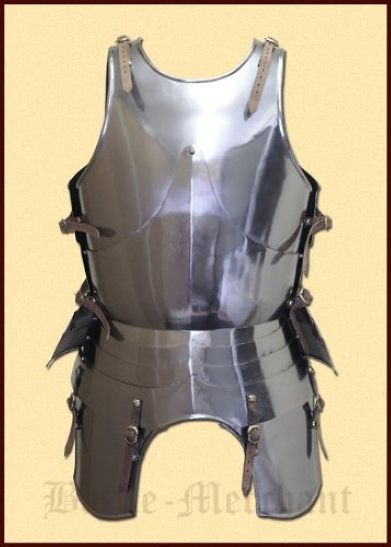 Italienischer Plattenharnisch, um ca. 1450, handgefertigt aus Stahl - tragbar - Ritterrüstung - Plattenrüstung - Ritter - Mittelalter - LARP