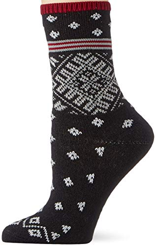 ESPRIT Damen Norwegian Stripe Socken, schwarz (black 3000), 35-38
