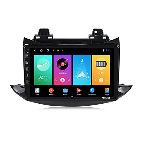 ADMLZQQ para Chevrolet Trax 2017 Android 9.0 Navegación GPS Radio Multimedia, Pantalla Táctil IPS De 9 Pulgadas, FM/WiFi/Bluetooth/Cámara Trasera/Control del Volante,M100 1g+16g