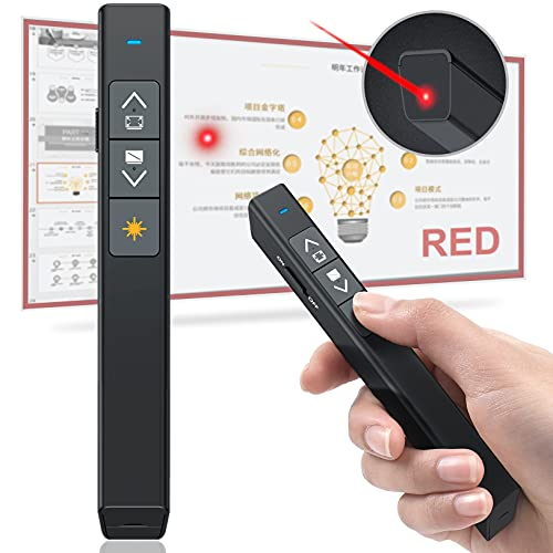 DinoFire Presentation Clicker Laser Pointer for Cats Dogs, 330FT Wireless Presenter Remote PowerPoint Clicker Presentation Remote, 2.4GHz Presentation Pointer for Mac, Laptop, Computer Cat Laser Toy