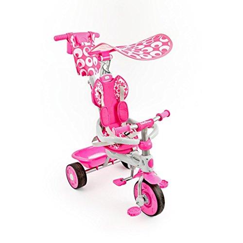 Dreirad 3in1 Sunny mit Teleskoplenkstange und Dach von UNITED-KIDS, verschiedene Farben, Farbe:Pink
