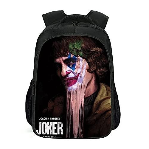 Mochila de película Joker para hombre y mujer, mochila coreana, adecuada para deportes, viajes y escuela.