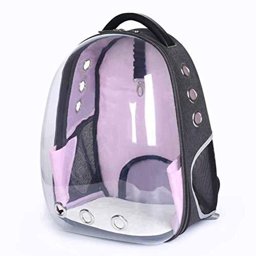 WYJW Tragbarer Haustier-Reise-atmungsaktiver Rucksack, Raumkapsel-Blasendesign, wasserdichter Handtaschenrucksack abnehmbares und waschbares Pad, Welpen-Kätzchen-Kaninchen, für den täglichen Gebr