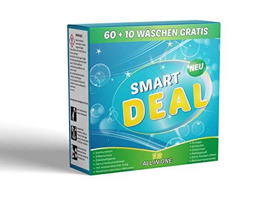 Smart Deal All in 1 Spülmaschinentabs mit wasserlöslicher Folie 12 in 1 ohne Plastik
