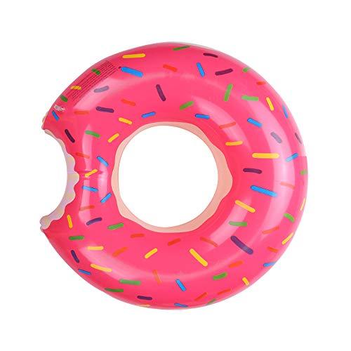 witgift Donut, anello da nuoto, grande gonfiabile, per piscina estiva, giocattolo da spiaggia, galleggiante ad anello per l'acqua, giocattolo ad aria, per adulti, 120 cm