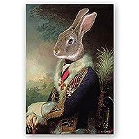 抽象動物象ライオンゼブラポスター創造的な動物モデリング壁アートキャンバス絵画印刷写真入り口の装飾 JIEG (Color : Color 20, Size : 20*30cm)
