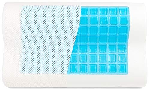Probiotic Argentum+ MABAMAHO SnapNap Gelschaumkissen mit Kopfmulde 50 x 30 cm Höhe 10 cm mit kühlenden Gelpads. Waschbarer Bezug, Kissenkern ist Ergonomisch, Orthopädisch, Hyperallergen (1)