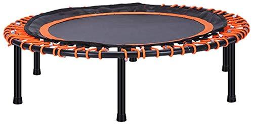 Bungee trampoline mini trampoline remise en forme silencieuse panier, avec tapis de sécurité, des adultes ou des cours d'aérobic aérobic enfants instructeur,Orange