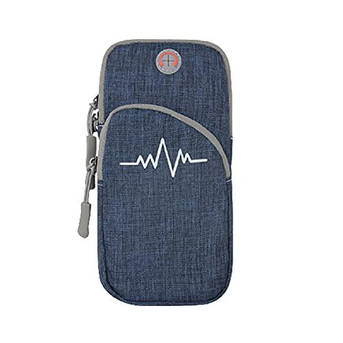 Fascia da braccio per sport e attività all'aria aperta, per telefono cellulare da 7', il bracciale da corsa più leggero e confortevole, si estende per adattarsi a tutti i telefoni custodia (blu)