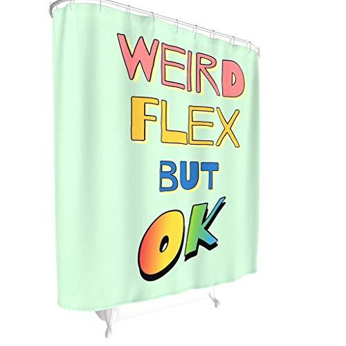 CATNEZA Text Grafische Kombination Muster Duschvorhänge wasserdichter Vorhang Grafische Kombination Badewannenvorhang Wohnaccessoires White 120x200cm