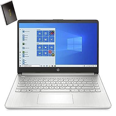 HP 14.0″ FHD Laptop Computer, Hexa-Core AMD Ryzen 5 5500U up to 4.0GHz (Beat i5-10500H), 8GB DDR4 RAM, 256GB PCIe SSD, WiFi 6, Bluetooth 5.2, USB Type-C, Windows 10, BROAGE 500GB External Hard Drive