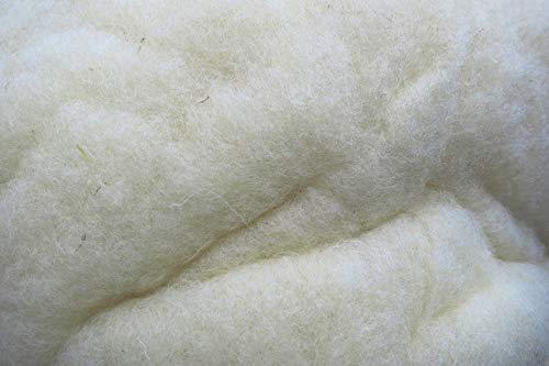 Füllwatte aus 100 % Schafschurwolle, natur, 3 kg, fein, (EUR 13,30/kg), kompostierbar, waschbar, Watte, Bastelwatte, geeignet als natürliches und nachwachsendes Füllmaterial für z.B. Plüschtiere, Puppen, Bären, Kissen usw. ... .