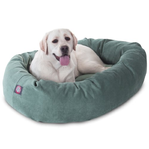 40 inch Azure Villa Collection Micro Velvet Bagel Dog Bed By Majestic Pet Products