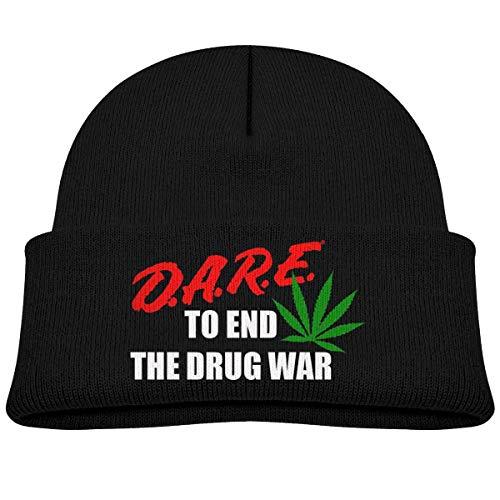 NR Dare to End The Drug War Bonnet d'hiver pour bébé garçon fille