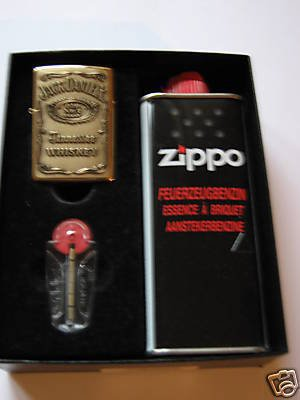 Zippo–Mechero Jack Daniel \'s Label Brass regalo de Juego