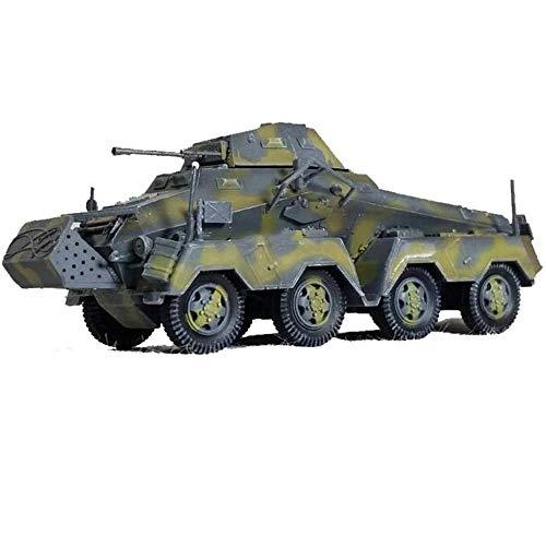 LHJCN Modelo de plástico de Tanque Fundido a Escala 1/72, vehículo blindado de Ocho Ruedas de la Segunda Guerra Mundial Alemania SdKfz231 23 Tanque, Juguetes y Regalos Militares
