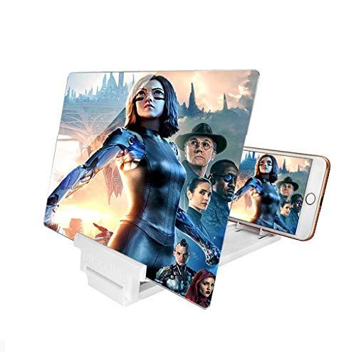 Lupa de pantalla Lupa de la pantalla, soporte de teléfono plegable con amplificador de pantalla, pantalla del proyector de la lupa del teléfono móvil 3D para películas, videos y gadgets de juegos Rega