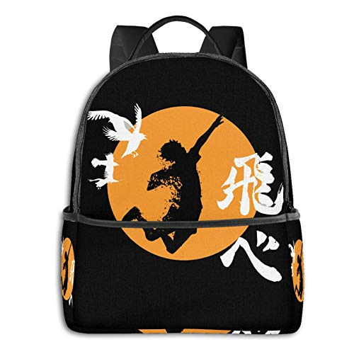 Haikyuu Karasuno - Hinata Smash Laptop Backpack Fashion Theme School Backpack