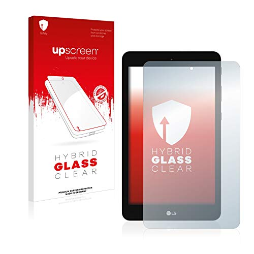 upscreen Hybrid Glass Panzerglas Schutzfolie kompatibel mit LG G Pad 8.0 9H Panzerglas-Folie