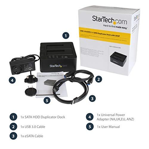 StarTech SDOCK2U33RE - Copiadora de Unidades para Disco (USB 3.0 y ...