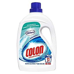 Colon Nenuco – Detergente para lavadora, adecuado para ropa blanca y de color, formato gel – 31 dosis