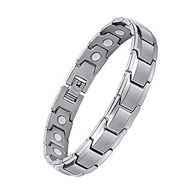 Feraco Mens Sleek Bracelets Elegant Titanium Steel Bracelet with Removal Tool, 8.66inch