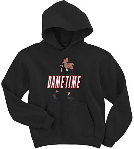 Black Portland Lillard It's Dame Time Hooded Sweatshirt Youth