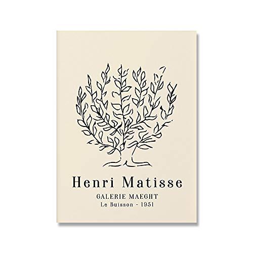 Picasso Matisse flor de niña abstracta para sala de estar decoración del hogar carteles e impresiones nórdicos pintura de lienzo sin marco D 40x60cm