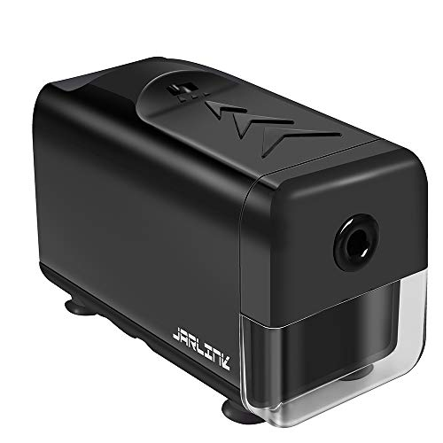 JARLINK Electric Pencil Sharpener, Heavy-Duty Helical Blade, Stronger Motor, Auto Stop for No.2/Colored Pencils(6-8mm), AC Adaptor Operated in School Classroom/Office/Home