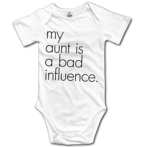 S5cms Organic Baby Onesies Unisex Bodysuits Baby My Aunt Is A Bad Influence