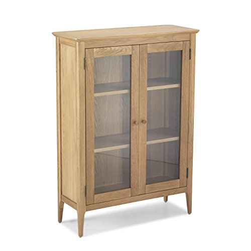 None Enfield Oak Glazed Display Cabinet for sale  Delivered anywhere in UK