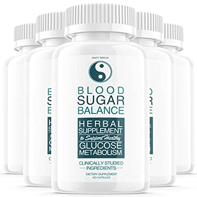 (5 Pack) Blood Sugar Support Balance Supplement, Blood Sugar Herbal Advanced Formula Pills Capsules - Supports Diabetic High Blood Pressure, Reduced Inflammation - Improved Blood & Immune Health by Swift Breeze Fitness