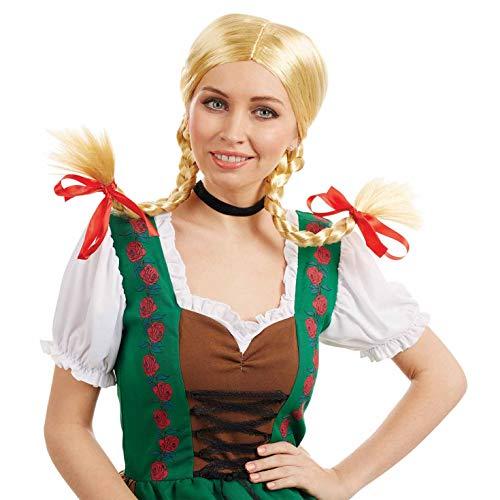 Adults Bavarian Wig Adults Blonde Pigtails German Oktoberfest Hair...