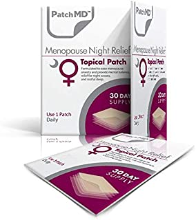 PatchMD - Menopause Night Topical Patch - Natural Nightly Menopause Topical Patch - eases Headaches, sleeplessness, Night Sweats, hot Flashes, Anxiety & Mood Swings - 30 Day Supply